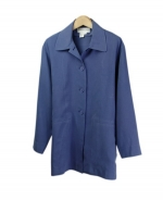 Our ladies' washable fuji silk barn jacket is comfortable and perfect for all occasions. This unlined jacket is softly shaped and drapes very nicely. It can easily match sweaters and jackets. Machine wash or dry clean for best results.