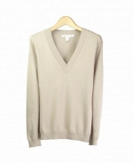 V-Neck long sleeve silk/cotton/cashmere sweater. You'll love this sweater for its comfort, luxurious look, and versatility. This top is an all year round must-have. Hand-wash or dry clean for best results.