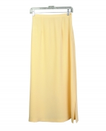 This luxurious washable heavy weight 100% silk crepe long skirt is perfect for early spring and fall seasons and beyond.  Back waist has partial elastic for easy fit.  It is as comfortable in the office and meetings as it is out for dinner, party and travel.  This silk crepe long skirt matches all the jackets, blazers and the vest in this group pictured below.