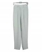 This luxusious washable heavy weight 100% silk crepe trouser with front pleats are perfect for spring and fall seasons.  Back waist has partial elastic for easy fit.  It is as comfortable in the office and meetings as it is out for dinner,party and travel.  This heavy silk crepe trouser matches all the jackets, blazers and the vest in this group pictured below. 