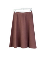 Pleat-effect skirt silk cashmere lycra 26-27