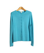 This ladies' 100% silk jewel neck cardigan is made in fine gauge full-needle knit.  *This silk cardigan has a dye-lot-match short sleeve jewel neck silk sweater to work as a cardigan set. It can also match the same color scoop neck sleeveless shell as sweater sets. Great for work and travel. This silk cardigan has sizes from S(6) to women's plus size 1X (16W-18W) in stock. 