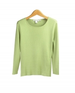 This ladies 100% silk jewel neck 3/4 sleeve sweater is made in full-needle knit providing stretch, comfort, and an easy-fit.  Our pullover is perfect for work and travel, as well as for leisure.  It works nicely with suits, jackets and skirts.  Available in sizes XS(4) to plus size 1X(16W-18W).  Hand-wash cold and lay flat to dry or dry clean for long lasting care.