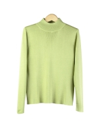 This ladies' 100% silk long sleeve mock neck sweater is made in fine gauge full-needle knit.  The mock neck sweater has a natural stretch so it provides comfort and easy movement.  The sweater pullover top works well with suits, jackets, and blazers and it is great for work, travel and leisure wear. It is a luxurious basic mock neck sweater you'll love for years. Sizes offered from S (6) to plus size 1X (16W-18W). Hand-wash cold and lay flat to dry. Steam the silk sweater for soft- hand feel; Or dry clean for long lasting care. 