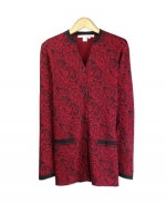 Our silk/cotton long sleeve jacket is great for all occasions. Hand wash or dry clean for best results.