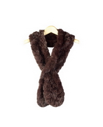 100% Rabbit Fur, baby soft touch scarf. 52