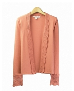 Our silk/cotton long sleeve cardigan is great for all occasions. Hand wash or dry clean for best results.