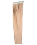 Women's washable silk trousers with side elastic at back waistband for easy fit.  Front pleats and zipper front.  Softly shaped, light weight and great draping.   Machine wash or dry clean.  The washable silk trousers are available in many colors.