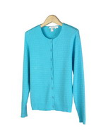 Women's 100% cotton cardigan in jewel neck long sleeve cable pattern style. Easy to match with jackets and bottoms. Perfect for all occasions; soft and comfortable. Hand wash or dry clean for best results. 