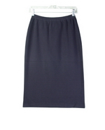 Silk nylon full needle fine knit skirt in straight classic style. Perfect for all occasions. 