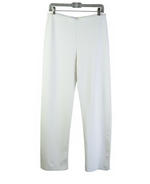Women's viscose nylon full needle knit pants.  Tightly knitted.  Good shape and good draping with stretch.  The pull-on pants match all the pullovers and jacket blazers in this collection pictured below.  Imported. Handw ash cold and lay flat to dry or dry clean.    