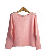 Our beautiful hand-made crinkle blouse is designed through a heat and steam process. This jewel neck long sleeve shirt has a slim fit, but its crinkle pattern allows enough stretch for you to comfortably wear often. This garment is easy-care as well as easy-fit. To maintain its original shape and pattern, wash in cold water lay flat to dry. (Do not use an iron or any other source of heat/steam.)