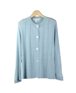 Composition's tussah silk crop sleeve cardigan is a luxurious top that is feather-weight and slightly embellished with our window pane design. This top is great for all occasions, and can easily match with all jackets and bottoms. Available in plus size 1X (16W). Dry clean for best result.