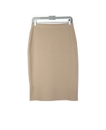 Ladies viscose nylon full needle knit skirt, 26