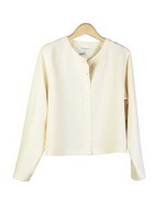 This washable woven silk linen round neck long sleeve shirt jacket is short in length, and wide chested, so it has a relaxed fit. Our jacket has a silky touch because of its fine silk linen fabric. It is easy-matching tank tops and trousers, which can create beautiful outfits.  This shirt jacket is perfect for the summer season because of its relaxed, yet stylish look.  21