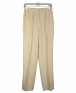 This washable woven silk linen unlined trouser has a classic and comfortable fit. Its back waist is elastic, so it is easy-fit. This pair of pants is luxurious because of its matte textured silk linen fabric. It has an easy-matching camp shirt, jackets, and bottoms that can create beautiful outfits. These pants are perfect for the spring and summer season. Dry clean, or machine/hand-wash in cold water.