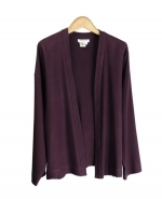 This 100% spun silk unlined kimono style jacket is comfortable, soft, and versatile. You'll want to wear this jacket for the entire fall season. This jacket can work beautifully with any of our silk sleeveless shells, t-shirts, and sweaters. Our jacket is perfect for dressing up as well as for dressing down. It matches the sleeveless shell, the pull-on pants and the long skirt in color in this design collection. Hand wash or dry clean for best results.