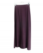 This 100% spun silk long skirt is comfortable, soft, and versatile. It has great shape and draping. You'll want to wear this skirt for the entire transitional and fall seasons. This long skirt can work beautifully with any of the jackets and tank tops in this design collection. It can aslo work nicely with many of our silk sleeveless shells, fine-knit tops and sweaters. Hand-wash or dry clean for best results.