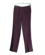 These 100% spun silk pull-on pants are comfortable, soft, and versatile. It has great draping. It is easy fit and stylish. You'll want to wear this pull-on pants for the entire transitional and fall seasons. This heavy spun-silk pull-on pants can work beautifully with all the jackets and sleeveless shells in the design collection. It can also work nicely with many of silk shirts, fine knit tops and sweaters.Hand-wash or dry clean for best results.