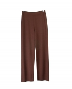 This silk/cotton full needle knit pants are perfect for all occasions. These pants are soft and comfortable and are easy to match with jackets and tops. 3 beautiful colors available for this pair of pants: Black, Brown, and Camel. 