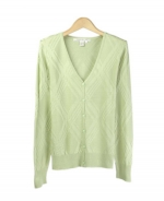 This women's V-neck long sleeve cardigan, made from 100% silk, is soft and luxurious. Our top is perfect for all occasions. Hand wash or dry clean for best results.