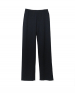 Our silk/cotton/cashmere knit pants are great for all occasions. This solid colored pair of pants is easy-fit and clean shaped. Ultra soft and a comfortable, luxurious top for the fall and winter. Matches many jackets and tops easily. 