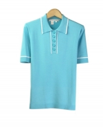 Our silk/lycra short sleeve polo shirt has a luxurious look with its' fine rib design. Our polo shirt matches well with our jackets and bottoms. Hand wash in cold water and lay flat to dry for best results. 