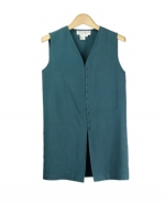 Our ladies washable fuji silk sleeveless vest is comfortable and perfect for all occasions. This v-neck vest is softly shaped and drapes very nicely. It can easily match sweaters and jackets. Machine wash or dry clean for best results.