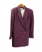 Our ladies washable fuji silk double-breasted blazer is comfortable and perfect for all occasions. This blazer is softly shaped and drapes very nicely. It can easily match sweaters and bottoms. Machine wash or dry clean for best results.