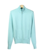 Compositions' zipper jacket is made of silk/cotton/cashmere. That jacket you'll love to wear. This chic and practical jacket has a classic stand-up collar and elegantly simple design. This top matches nicely with all sleeveless shells, t-shirts, and sweaters. Hand-wash or dry clean for best results.