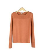 Our Tussah silk/cotton bateau neck long sleeve sweater is perfect for all occasions. Soft and comfortable. Easy to match with jackets and bottoms. Hand wash or dry clean for best results. 
