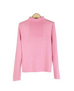 Our Tussah silk/cotton funnel neck long sleeve is perfect for all occasions. Soft and comfortable. Easy to match with jackets and bottoms. Hand wash or dry clean for best results. 