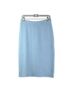 Stretch silk cashmere straight-shape regular skirt in heather colors, 25