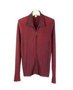Women's silk cotton ribbed melange long sleeve zipper cardigan jacket.  This is a specially made melange sweater jacket with natural stretch.  It fits well and drapes well.  The melange colors make the sweater jacket easy to work with other colors.  The style matches all other styles in this group pictured below and five beautiful fall colors available for the collection.