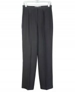 Our ladies' 100% washable woven silk gabardine trouser is classic in fit and style.  Its soft hand touch and brushed color makes this a perfect pant to wear during the spring, summer and fall season. Dry clean or hand wash. Steam to maintain silkiness.