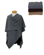 This 100% Merino wool wrap is made in full-needle knit. It is of high quality knit, so it has an incredibly soft touch.  