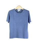 Silk Cashmere Short Sleeve Sweater With Beads. 85% silk, 15% cashmere. Soft and comfortable. Great for all occasions. Easy to match with jackets and bottoms. Hand wash or dry clean for best results. Available in 3 colors: Cornflower, Gray, and Red. 