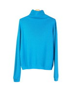 Silk/cotton/cashmere long sleeve Mock-Turtle Neck sweater pullover in relaxed full-sweater style. This is our customers'favorite high quality full sweater style.  Soft-touch and easy-fit. It is a flattering style with sporty look.  Available in 11 beautiful bright and pastel colors. Hand wash in cold water and then steam it to achieve the sweater's original softness. Or dry clean for long lasting best result.