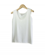 Our silk/lycra tank top is a light-weight top that is perfect for the spring and summer seasons.  This soft and comfortable tank works wonderfully as a layering piece, and can easily match with any jackets and trousers. Hand wash to clean or dry clean for best results. 