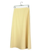 This washable woven silk linen unlined long skirt has a classic and comfortable fit. Its' back waist is elastic, so it is easy-fit. Our long skirt is luxurious because of its matte textured silk linen fabric. It has an matching camp shirt and jackets that can create beautiful sets. This silk linen skirt is for the spring and summer season. Dry clean or machine/hand-wash in cold water.