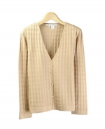 Composition's washable silk/cotton v-neck long sleeve sweater is a luxurious top with a soft touch and dressy look.  Our v-neck sweater works beautifully with many suits, blazers and jackets, and is perfect for all occasions. Available in small to extra large. Dry clean or hand wash in cold water and lay flat to dry. Press with steam to maintain original silkiness.